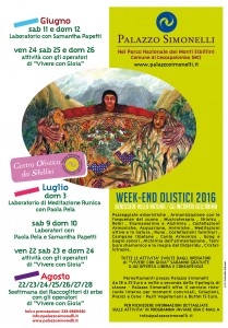 Locandina Week-End Olistici 2016